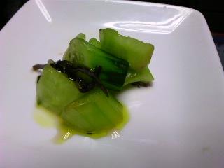 塩こぶのうまみと菜の花オイルの相性はとても良いようです。