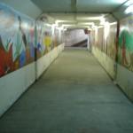 JRの地下横断通路