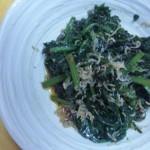 にんじん葉の炒め物