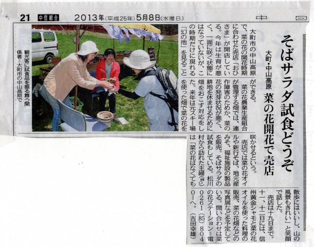 中日新聞 2013.5.8