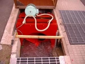 川上水力(螺旋形水車)